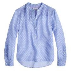 J. Crew Dash Dot Blouse sz. 4